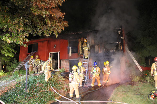 Approximately 30 firefighters and paramedics were on the scene of a house fire in the 6100 block of Forty Winks Way in Columbia on Sept. 4.
