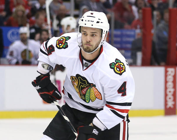 Blackhawks defenseman Niklas Hjalmarsson is now under contract through the 2018-19 season.