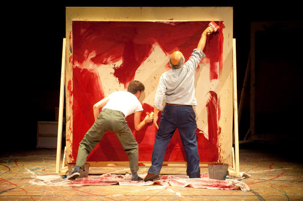 "Patrick Stafford, left, and Tony Abatemarco in ""Red"" at International City Theatre."