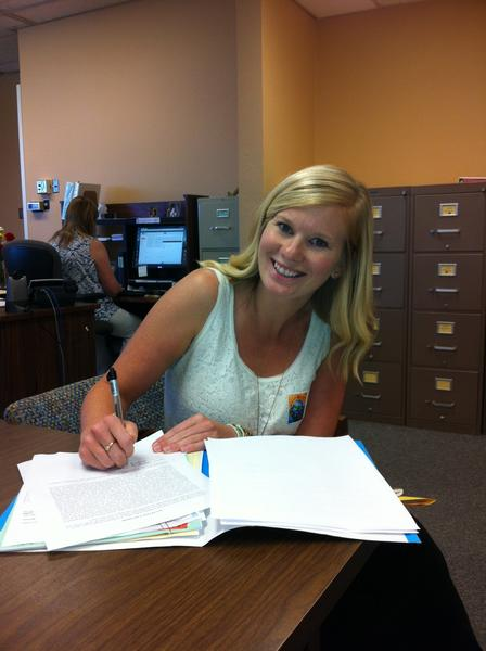 Kayley King is a new kindergarten teacher at Peterson Elementary school.