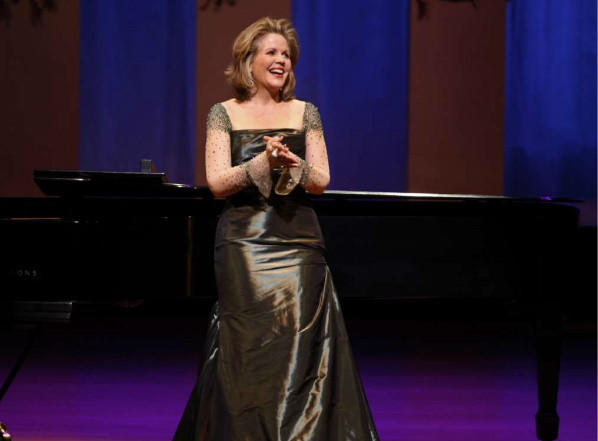 Renée Fleming performing at the Renée and Henry Segerstrom Concert Hall in Costa Mesa in 2011.