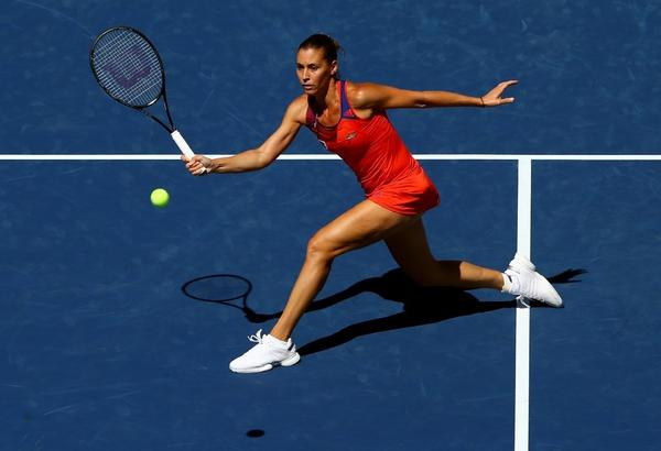 Flavia Pennetta advanced to the semifinals at the U.S. Open.