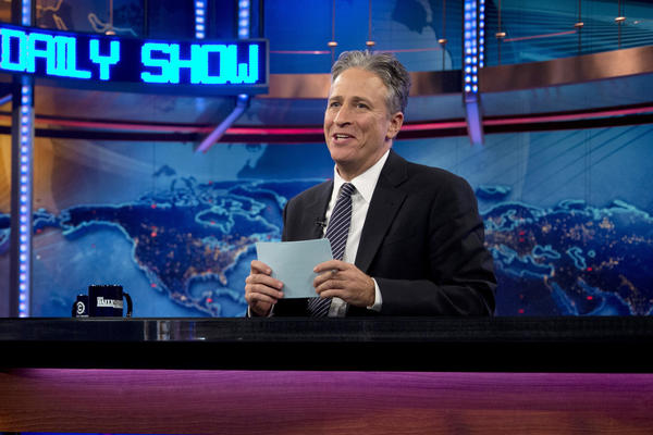 "Jon Stewart is back to hosting ""The Daily Show."""