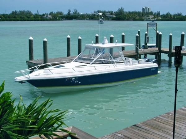 There is a $10,000 reward for information that leads to the safe return of this boat that was stolen last month from Marathon, Florida.