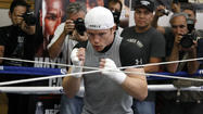 Canelo Alvarez prepares in Big Bear for bout with Floyd Mayweather