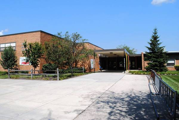 Approximately 70 iPads and iPods were stolen from Seth Paine Elementary in Lake Zurich (above) late Tuesday night or early Wednesday morning, officials said.