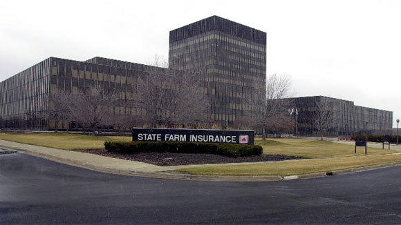 The State Farm headquarters campus is shown in a 2003 file photo.