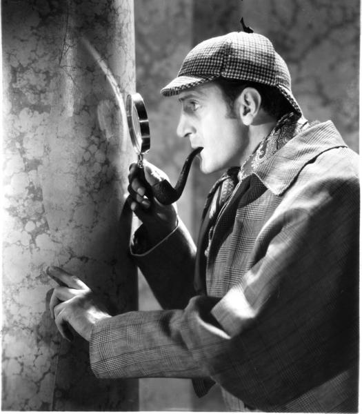 "Basil Rathbone as Sherlock Holmes in the movie ""The Hound of the Baskervilles"" (1939). Holmes' creator, Arthur Conan Doyle, made literary use of such disorders as epilepsy and stroke, as well as neurotoxins."