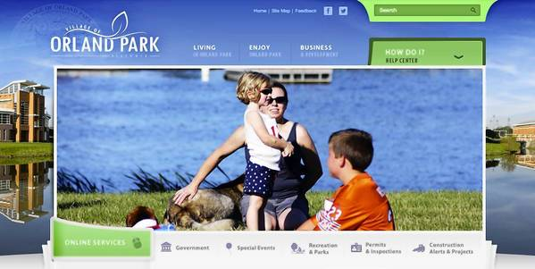 The redesigned Orland Park website launched Aug. 30.