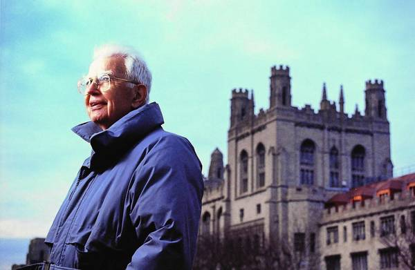 Ronald Coase was a faculty member at the University of Chicago for nearly 50 years and became an esteemed figure on the Hyde Park campus.