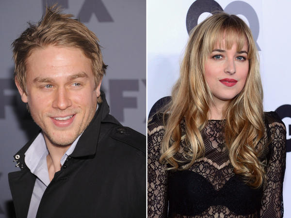 "Charlie Hunnam and Dakota Johnson will star in the film adaptation of the erotic novel ""Fifty Shades of Grey."""