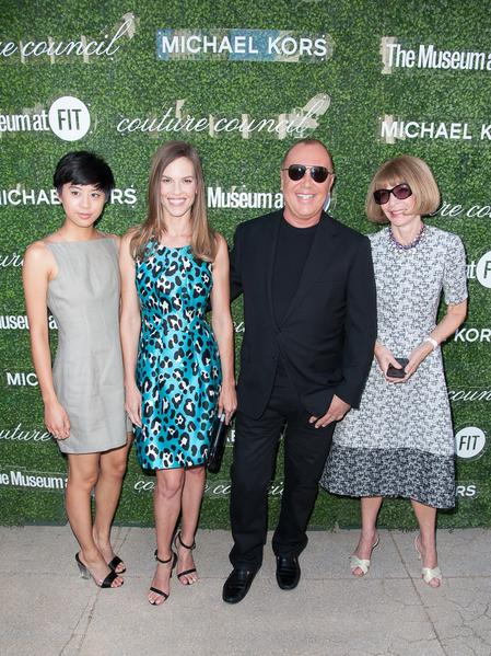 Kim Nguyen, left, Hilary Swank, Michael Kors and Vogue Editor-in-Chief Anna Wintour attend the 2013 Couture Council Fashion Visionary Awards on Wednesday.