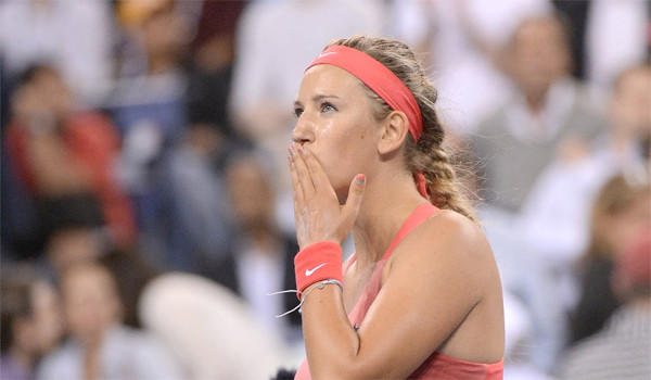 Victoria Azarenka advanced to the semifinals of the U.S. Open by defeating Daniela Hantuchova, 6-2, 6-3, on Wednesday.