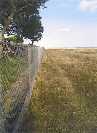 Pictured is a path in Fairview Park that abuts the fence between the park and Parsons Field. This path was recently mowed of vegetation by city crews at the request of Mayor Pro Tem Steve Mensinger. It was later widened and topped by a layer of decomposed granite, though who did that unpermitted work remains a mystery.