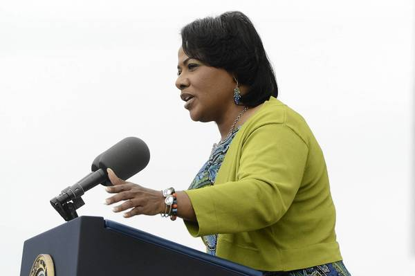 Bernice King, daughter of late Dr. Martin Luther King Jr., delivers remarks during the 'Let Freedom Ring' commemoration event, at the Lincoln Memorial August 28, 2013 in Washington, D.C.