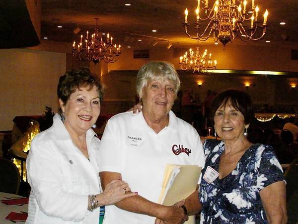 Photo courtesy of Arline Walton Silverthorn Hampton High School's class of 1958 held its reunion recently. From left are Gale Fertitta Buchanan, Frances Hill Lucido and Joan Wood Bowler.