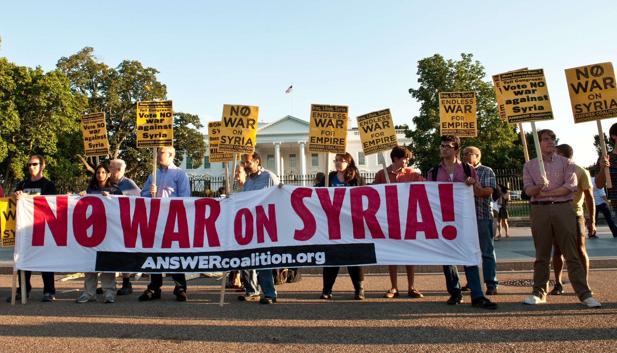 Debate over  strikes on Syria - Anti-intervention protests
