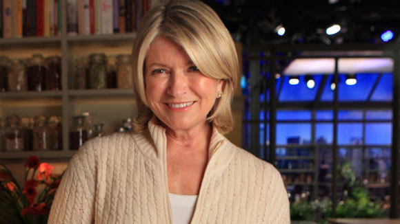 Martha Stewart is photographed during a taping of her TV show in Manhattan in 2010.