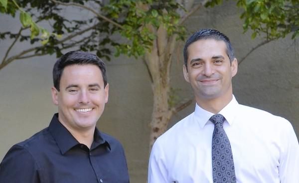 Laguna Beach Unified School District hired Johnathan Rastello, left, and Joseph Vidal, counselor at Laguna Beach High School and assistant principal at Thurston Middle School, respectively.