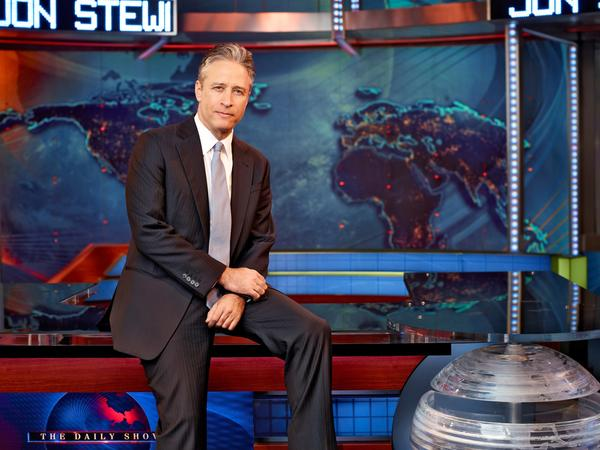 "A photo of Jon Stewart, host of ""The Daily Show."""