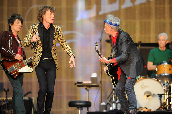 The Rolling Stones are being saluted by the Rock and Roll Hall of Fame Museum