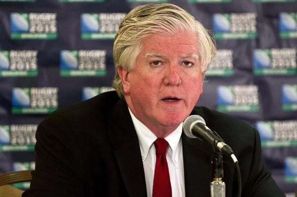Brian Burke speaks at a news conference in Toronto on Aug. 22.
