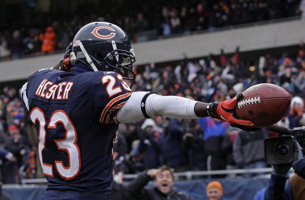 "Devin Hester gets pumped when the jets fly over Soldier Field. His is just one of many ""welcome to the NFL"" moments on the Bears' lists."