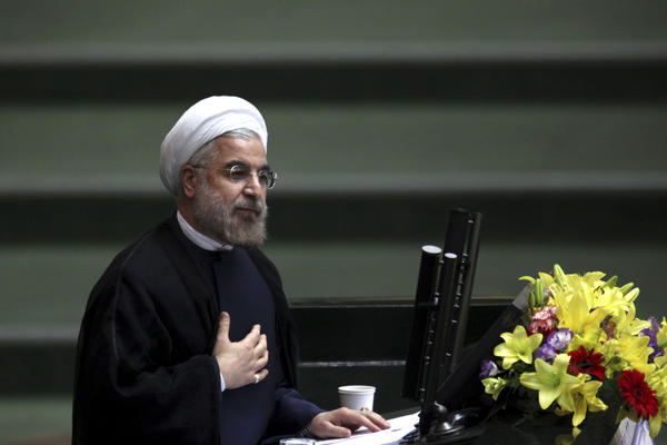 """Iranian President Hassan Rouhani wishes Jews """"a blessed Rosh Hashanah"""" via Twitter."""