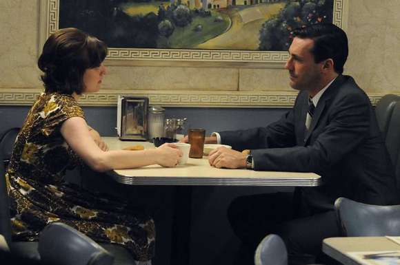 Elisabeth Moss and Jon Hamm