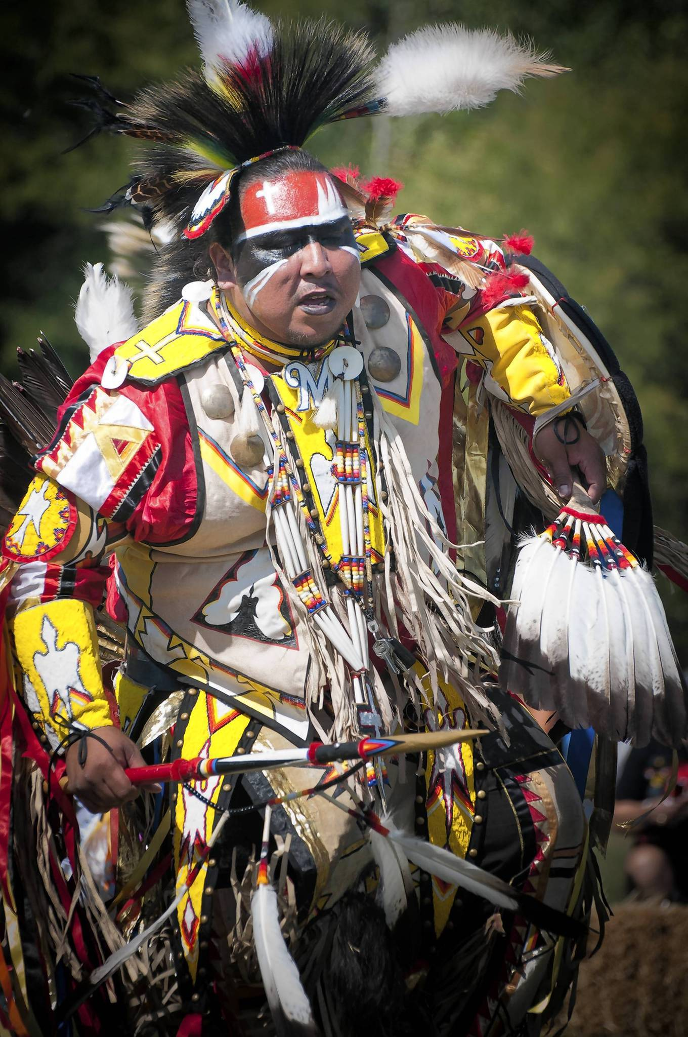 At American Indian Center's 60th Powwow, both ritual and dance contest