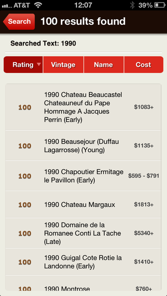 The app includes a searchable database of a quarter-million tasting notes with a few thousand more added bimonthly.