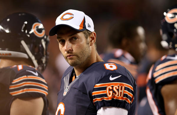 Chicago Bears quarterback Jay Cutler watches from the sideline during a preseason game vs. San Diego last month.