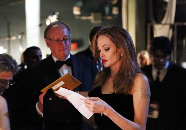 Angelina Jolie at the 84th Annual Academy Awards.