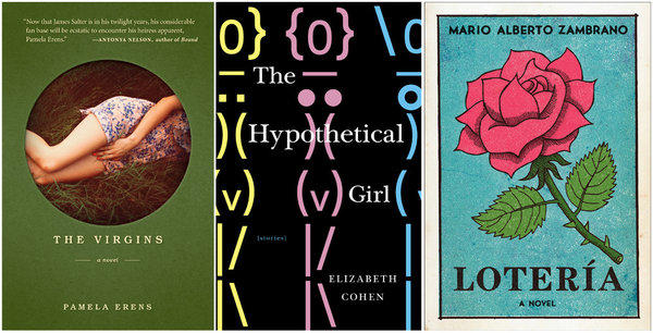 The book covers for this week's Fiction Shelf selections.