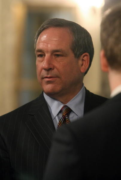 Former DuPage County Board Chairman Bob Schillerstrom, seen here in 2010, won't run for state treasurer.