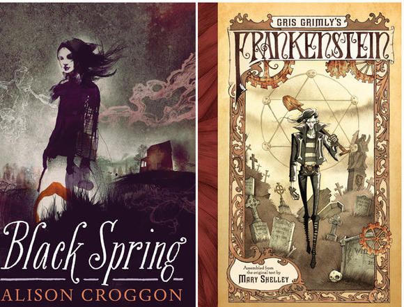 "Review of Alison Croggon's ""Black Spring,"" and ""Gris Grimly's Frankenstein"""