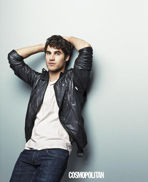"Darren Criss of ""Glee"" is featured in the October issue of Cosmopolitan."