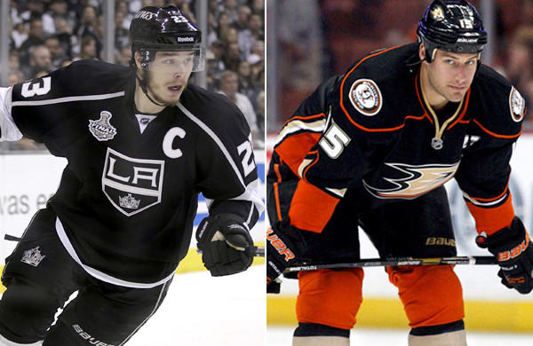 Captains Dustin Brown of the Kings and Ryan Getzlaf of the Ducks will return to the ice for camp later this month.