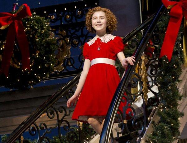"Lilla Crawford in the title role of the musical ""Annie "" in New York. The show will have its final performance on Jan. 5 at the Palace Theatre."