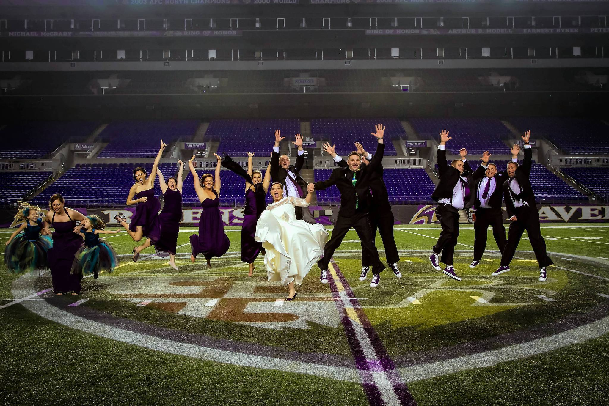 Ravens themes a trend in Baltimore weddings - Baltimore Sun on