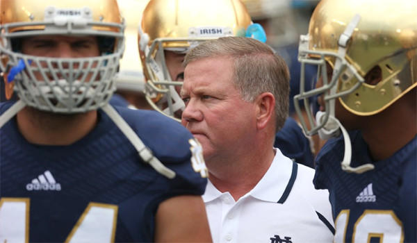 Notre Dame Coach Brian Kelly says there isn't a traditional rivalry between the Irish and Michigan, either way Kelly he and his team are headed to the Big House to face the Wolverines on Saturday.
