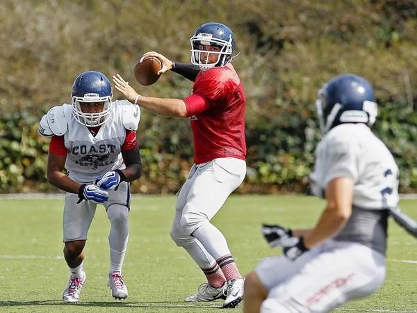Cameron Biedgoly is slated to start at quarterback for Orange Coast College.