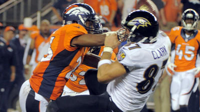 Rough night for Ravens' tight ends Ed Dickson, Dallas Clark