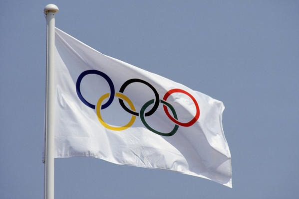 The Official Olympic Flag.