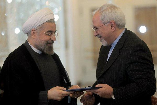 Iranian President Hassan Rouhani, left, with Foreign Minister Mohammad Javad Zarif in Tehran on Aug. 17.