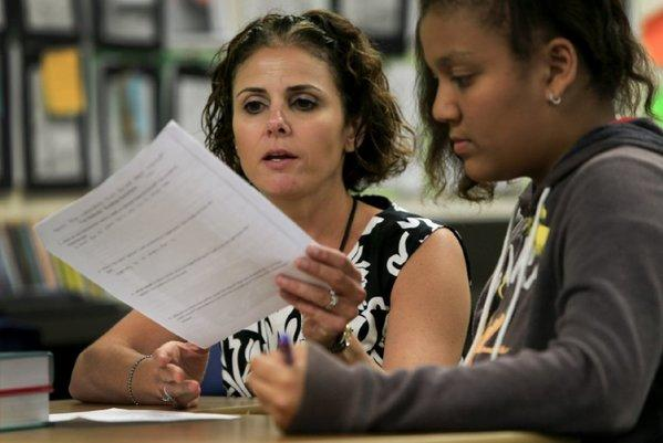 Common Core instruction was already taking place last spring at Santiago Elementary School in Santa Ana.