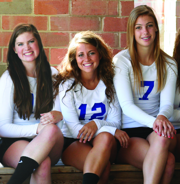 St. Charles North volleyball players (from left to right) Corrinne Sullivan, Sydney Wohlert and Taylor Krage are leaders for the North Stars.