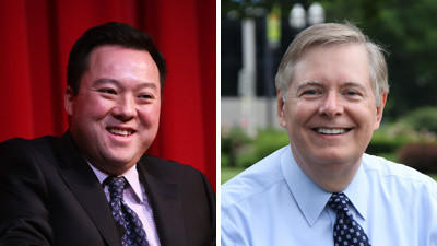 Rep. William Tong, left, and David Martin.