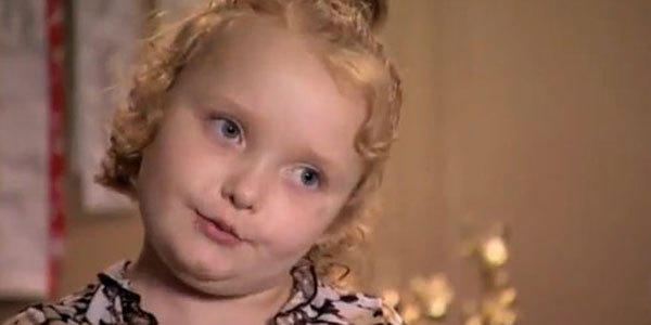 "Alana ""Honey Boo Boo"" Thompson is the flower girl at her parents' commitment ceremony."