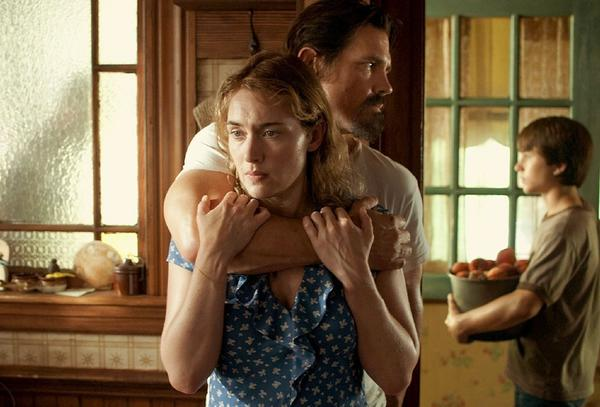 "Things might look tense between Kate Winslet and Josh Brolin in ""Labor Day."" But those peaches young Gattlin Griffith is holding in the background will provide sweet relief."